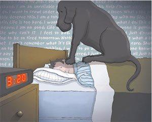 Depresión: el perro negro