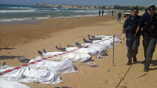Muertos en Lampedusa