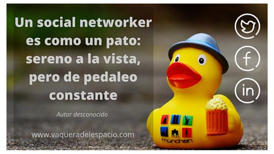Un social networker por Vaquera del espacio