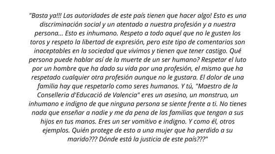 """Julián López """"El Juli"""" en respuesta al profesor antitaurino"""