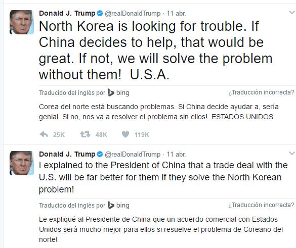 Twits Donald Trump