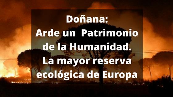 Doñana se incendia de forma provocada
