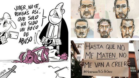 La justicia Franquista  dicta sentencia a La Manada