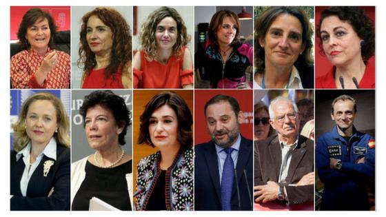 Las Ministras del gobierno de Sánchez
