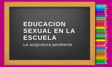 Educación sexual en la escuela ya!