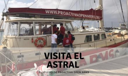 Visita el Astral el velero de Proactiva Open Arms