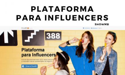 Influencers ShowMB. Plataforma para Influencers