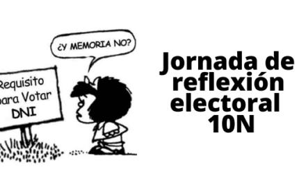 Jornada de reflexión electoral 10N 2019
