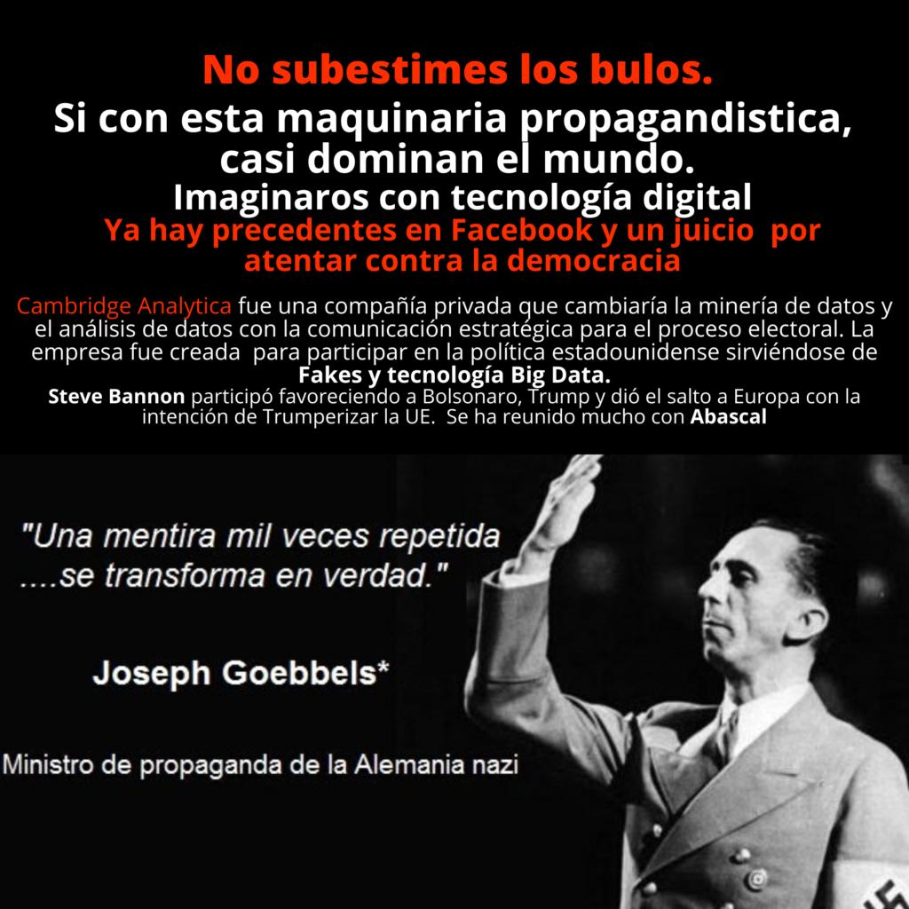 No subestimes los bulos. Propaganda nazi + tecnología en redes