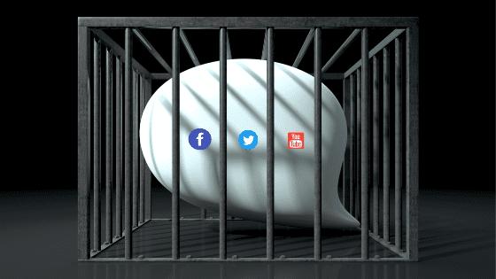 Censura en redes sociales. Política de bloqueo